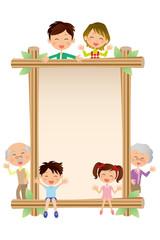 木枠と家族