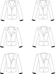 Man and woman suits