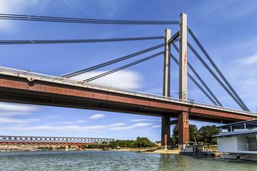 Belgrade's New Railway Suspension Bridge on Sava River - Serbia