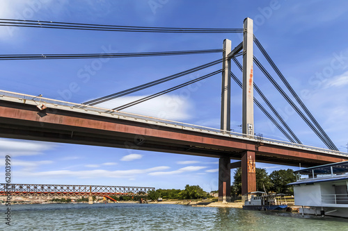 Belgrade's New Railway Suspension Bridge on Sava River - Serbia