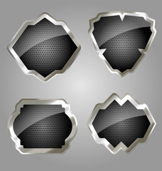 Metallic embleme shields collection