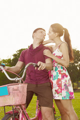 Couple with bicycle