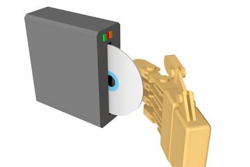 CD-ROMを入れる