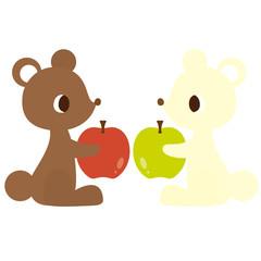 くまとりんご