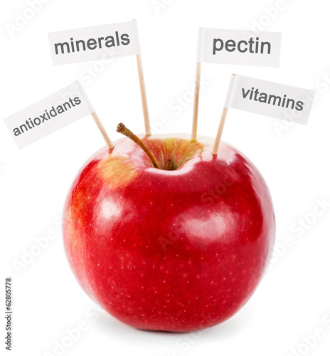 Healthy food concept - apple