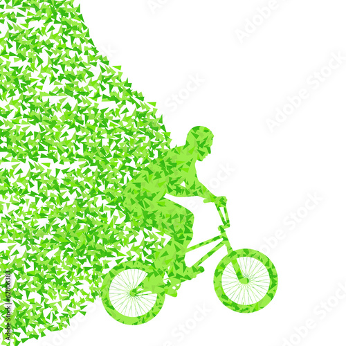 Extreme bicycle riders sport vector background illustration conc