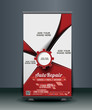 Automobile Center Roll Up Banner Design