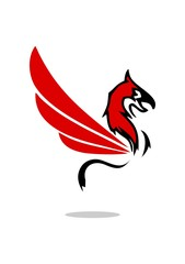 Red griffin logo