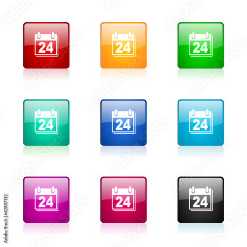 calendar vector icons colorful set
