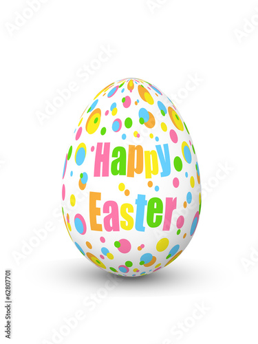 """HAPPY EASTER"" Decorated Egg (card icon symbol celebration eggs)"