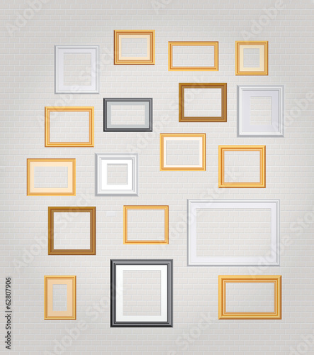 big white wall frames