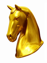 golden Horse head