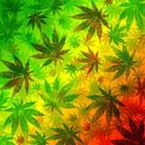 Fototapety Marijuana Cannabis Leaves Pattern