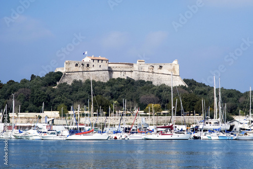 Port and Fort Carre, Antibes, France