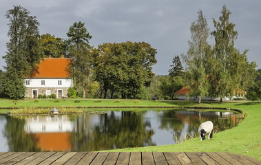 """Rural landscape at the National Nature Reserve """"Gauja"""", Latvia"""