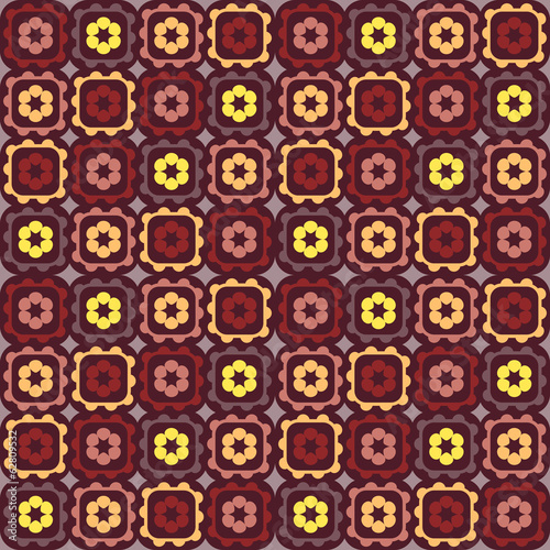 Abstract colorful retro seamless pattern