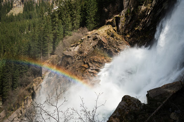 waterfall Krimml (Austria), spring