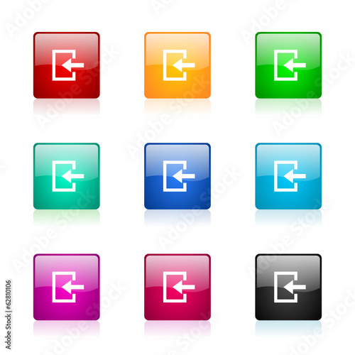 enter vector icons colorful set