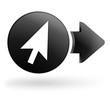 pointeur souris sur bouton noir