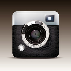 Retro Camera Icon Vector Illustration