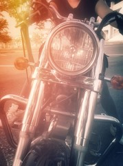 women and motorcycle