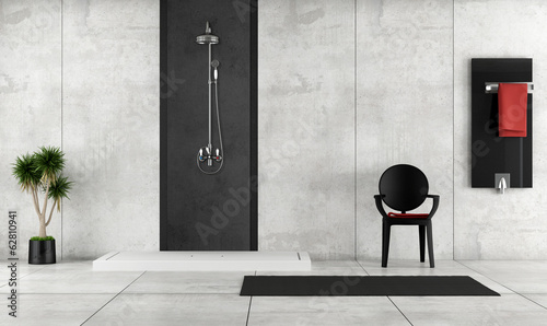 canvas print picture Minimalist bathroom with shower