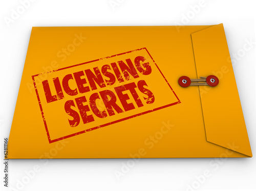 Licensing Secrets Yellow Envelope Help Advice License Informatio