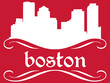 Boston - name and city silhouette