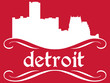 Detroit - name and city silhouette