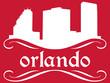 Orlando - name and city silhouette