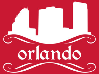Orlando - name and city silhouette