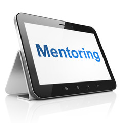 Education concept: Mentoring on tablet pc computer