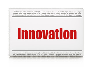 Business concept: newspaper headline Innovation