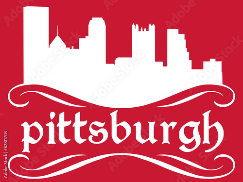Pittsburgh - name and city silhouette