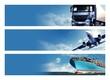 Leinwanddruck Bild - Logistics Banner