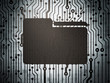 Business concept: circuit board with Folder