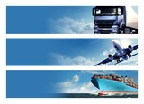 Logistics Banner poster