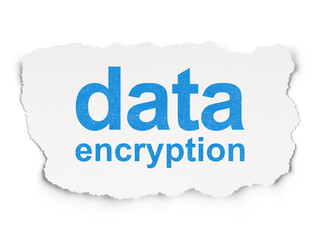 Safety concept: Data Encryption on Paper background