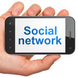 Social network concept: Social Network on smartphone