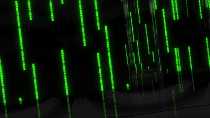 Matrix Seamlessly Looped Abstract Background