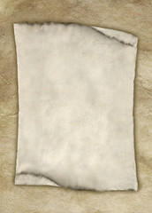 Parchment paper on parchment background