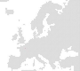 Pixelkarte Europa: Paris liegt hier