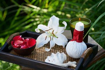 spa in garden