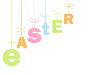 """EASTER"" Card (message icon celebration party time happy eggs)"