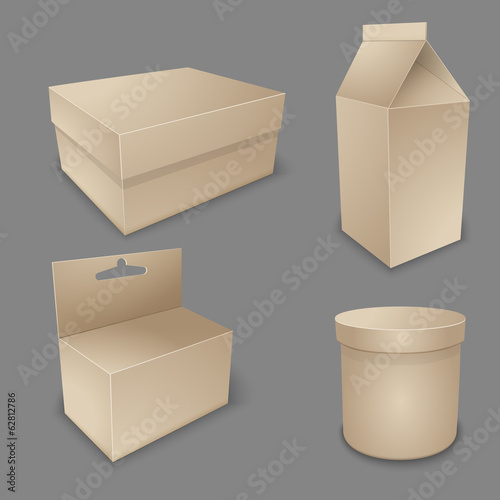 Vector blank packing collection.