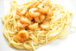 Shrimp Scampi on Pasta