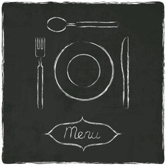 menu on old black board