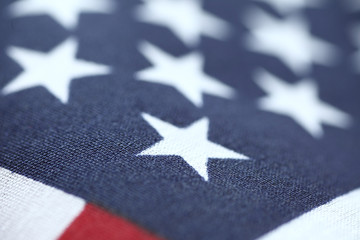 United States flag stars closeup