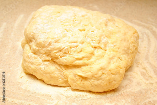 Raw Dough in Flour