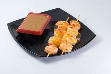 Shrimp shashlik